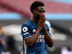 """Bukayo Saka labelled Arsenal's start against Villarreal as """"horrible"""" (Mike Hewitt/PA)"""