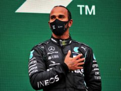 Sir Lewis Hamilton (pictured) has welcomed Derek Chauvin's conviction for the murder of George Floyd (PA)