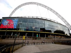 Wembley will welcome 4,000 Manchester City and Tottenham supporters for the Carabao Cup final – but not those classified as clinically extremely vulnerable to coronavirus (PA)