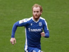 Gillingham's Connor Ogilvie missed a great chance against Shrewsbury (Richard Sellers/PA).