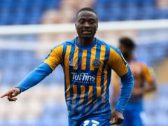 Shrewsbury will hope to have Daniel Udoh available for the visit of Lincoln (Barrington Coombs/PA)