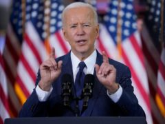 President Joe Biden's stimulus plan helped markets rise. (AP Photo/Evan Vucci)