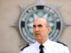 Chief Superintendent Simon Walls speaks to the media at police headquarters in Belfast. on Saturday (Peter Morrison/PA)