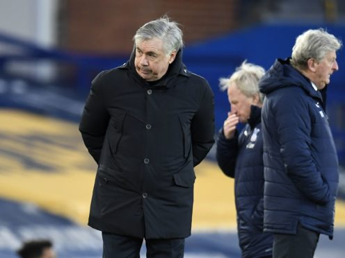 Everton manager Carlo Ancelotti was left to rue missed opportunities against Palace (Peter Powell/PA)