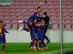 Ousmane Dembele grabbed a late winner for Barcelona (Joan Monfort/AP)