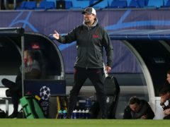 Jurgen Klopp did not hide his frustration after Liverpool's defeat (Isabel Infantes/PA)
