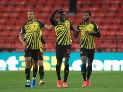 Ismaila Sarr, centre, scored twice as Watford beat Reading (Adam Davy/PA)