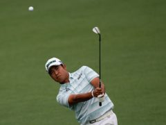 Hideki Matsuyama took a four-shot lead into the final round of the 85th Masters (David J Phillip/AP)