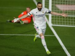 Karim Benzema opened the scoring as Real Madrid beat Barcelona (Manu Fernandez/AP)