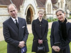 The Earl and Countess of Wessex, with their daughter Lady Louise Windsor (Steve Parsons/PA)