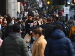 Shoppers in London on Monday April 12. Many households do not yet have a clear route out of debt problems triggered by the coronavirus pandemic, according to StepChange Debt Charity (Victoria Jones/PA)