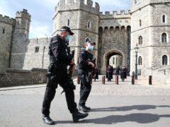Police outside Windsor Castle, Berkshire (Steve Parsons/PA)