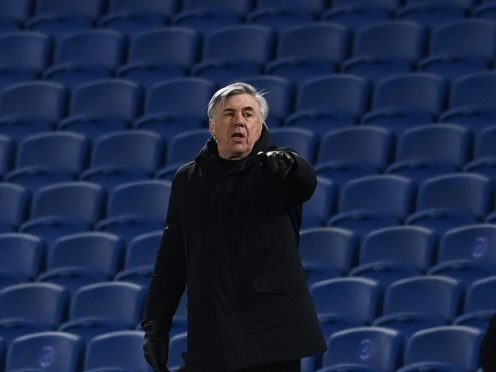 Carlo Ancelotti insists Everton are still in the fight for Europe (Glyn Kirk/PA)