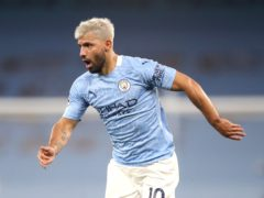 Sergio Aguero will not be involved for Manchester City at Wembley on Saturday (Martin Rickett/PA)