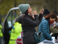 People take part in coronavirus surge testing on Clapham Common (Kirsty O'Connor/PA)