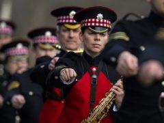 Military personnel rehearsing for the Duke of Edinburgh's funeral (PA)