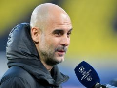 Manchester City manager Pep Guardiola expects to be kept waiting for the Premier League title (PA/DPA)