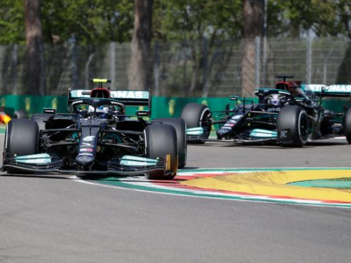 Valtteri Bottas finished ahead of Lewis Hamilton in first practice (Luca Bruno/AP)
