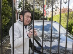 Myanmar's former ambassador to the UK, Kyaw Zwar Minn, outside his residence in north-west London (Ian West/PA)