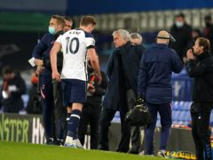 Harry Kane picked up an injury in stoppage time (Jon Super/PA)