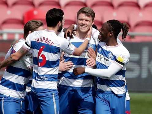 QPR celebrate Rob Dickie's opener (Richard Sellers/PA)
