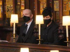 Mike and Zara Tindall during the funeral of the Duke of Edinburgh (Dominic Lipinski/PA)