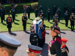 The Duke of Edinburgh's coffin (Arthur Edwards/The Sun/PA)
