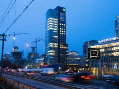 The ABN Amro head office in the business district in Amsterdam, Netherlands (Peter Dejong/AP)