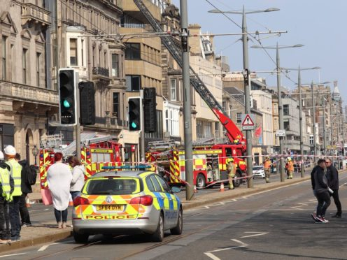 Firefighters tackle a large blaze in Debenhams on Edinburgh's Princes Street (Matt Donlan)