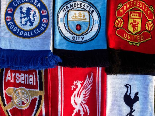 Scarves of the Premier League teams set to join a new European Super League (John Walton/PA)