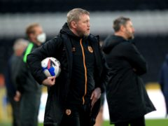 Grant McCann and co are one win from promotion (Mike Egerton/PA)