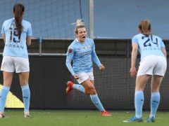 Lauren Hemp struck a 74th-minute equaliser for Manchester City to keep their slim title hopes alive against Chelsea (Martin Rickett/PA)