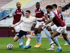 Manchester City's Phil Foden scored his 14th goal of the season at Aston Villa (Carl Recine/PA)