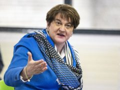 First Minster Arlene Foster during a visit to the Hammer Youth Centre in Belfast (PA)