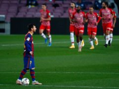 Granada fought back to beat Barcelona after Lionel Messi's early goal (Joan Monfort/AP)