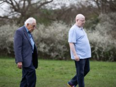 Matt Lucas met 93-year-old Harry Olmer (Sam Churchill/PA)