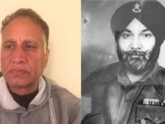 Raj Pal and his uncle Tarlok Singh, who achieved the rank of captain fighting in Burma in the Second World War (Raj Pal/PA)