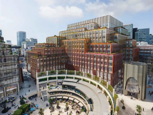 British Land is developing 1 Broadgate near London's Liverpool Street station. (British Land/PA)