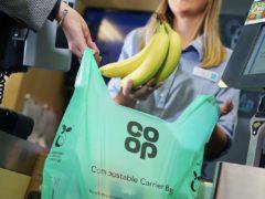 Co-op's compostable carrier bag (Neil O'Connor/UNP)