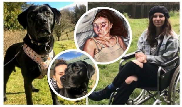 Black Labrador Lunar is 'in this world to help me through' says chronically ill Angus artist