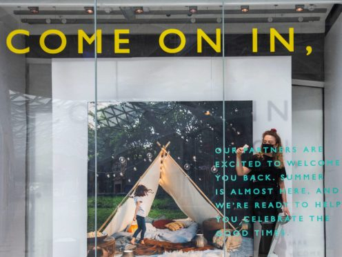 John Lewis outlined its plans for April 12 for its remaining 32 shops in England (John Lewis/PA)