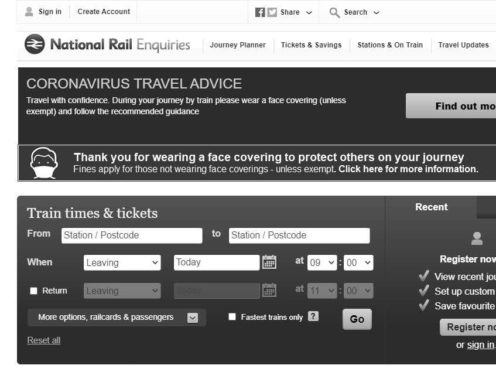 Converting online train journey planners to greyscale following the Duke of Edinburgh's death has led to complaints from passengers and rail staff that they are difficult to read (National Rail Enquiries/PA)