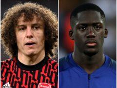 David Luiz and Ibrahima Konate (Neil Hall/Nick Potts/PA)