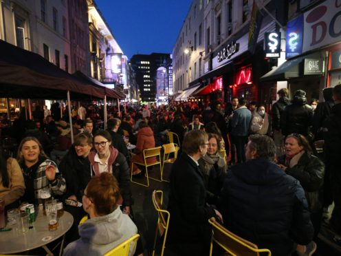 Hospitality businesses in England are now allowed to serve customers outdoors once again (Jonathan Brady/PA)