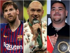 Lionel Messi, Tyson Fury and Andy Ruiz (Nick Potts/Bradley Collyer/PA)