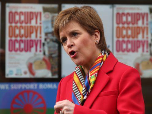 Nicola Sturgeon was questioned about meetings between Scottish Cabinet secretary Fergus Ewing and Sanjeev Gupta (Andrew Milligan/PA)
