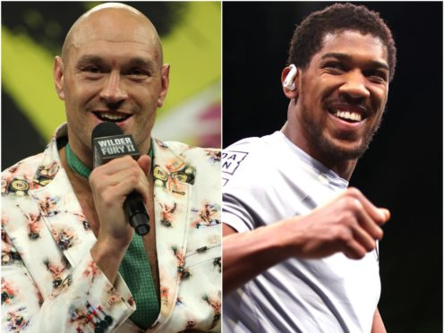 Tyson Fury and Anthony Joshua (Bradley Collyer/Nick Potts/PA)