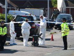 Police on the scene after Dalian Atkinson's death (Joe Giddens/PA)
