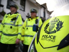 Officers searched a property in Cumnock on Tuesday (Andrew Milligan/PA)