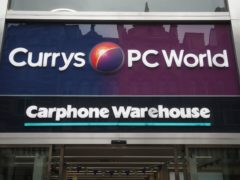 Electricals retailer Dixons Carphone has revealed plans to rename all its UK and Ireland shops as Currys (PA)